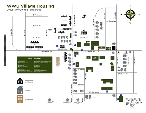 Map of village housing options