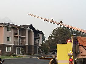 A fire was extinguished at Mountain View Apartments Sunday evening.