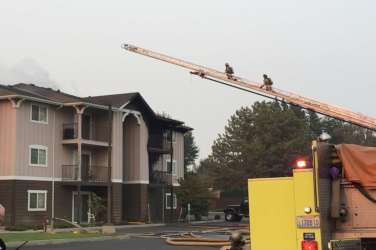 Fire at Mountain View Apartments