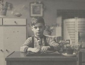 Peter Metzelaar at age seven in Amsterdam in 1941