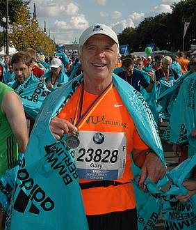 Gary Rittenbach completed the Berlin Marathon in 2013 with a time of 3:43:19.