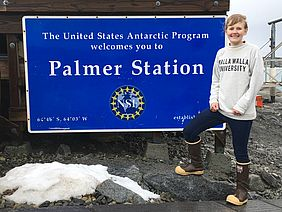 "Palmer Station is on Anvers Island near the Antarctic Peninsula, an ideal location, according to Brothers, who says, ""You can spot chinstrap penguins on your walk from the dorms to the labs and see your research site from the galley windows."""