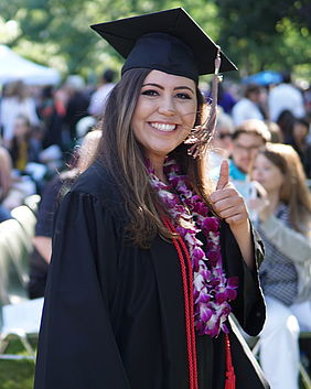 2018 WWU graduate, Yara Fernandez, at graduation this past June.
