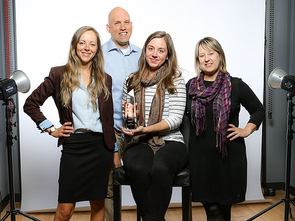 WWU Marketing and University Relations staff (left to right): Emily Muthersbaugh, Chris Drake, Alix Harris, and Kim Strobel