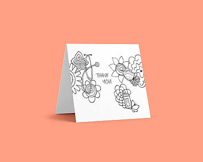 Color-it-in Flowers card