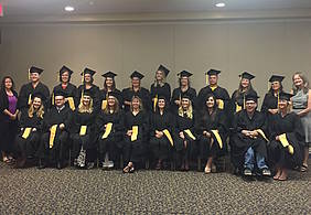 Twenty-seven students were awarded Master of Social Work degrees on Sunday, Aug. 13, in Billings.