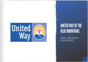 Cover of United Way flip book.