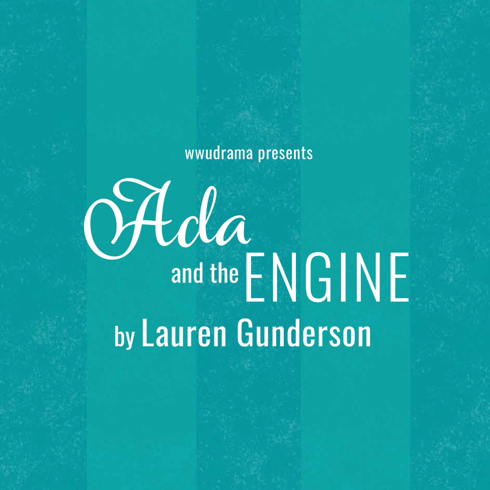 Teal promotional poster for Ada and the Engine