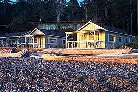Cabins on beach