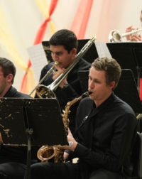 WWU students perform in a holiday Big Band concert.