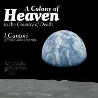 The cover art for I Cantori's latest CD features an earth-rise over the landscape of a desolate moon.